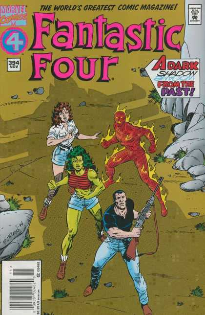Fantastic Four 394 - Woman - Fire - Man On Fire - Gun - Green Woman - Paul Ryan