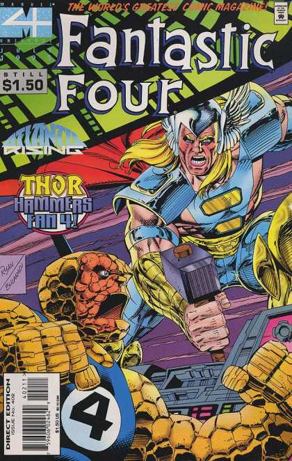 Fantastic Four 402 - Thor - Beard - Reptinle - Shield - Blue - Paul Ryan