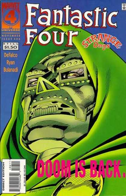 Fantastic Four 406 - Mask - Hood - Marvel - Universe - November Issue - Paul Ryan