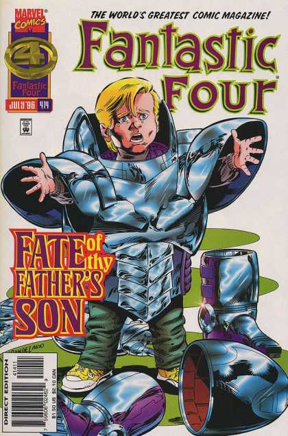 Fantastic Four 414 - Kid - Armor - Helmet - Danger - Yellow Sneakers - Paul Ryan