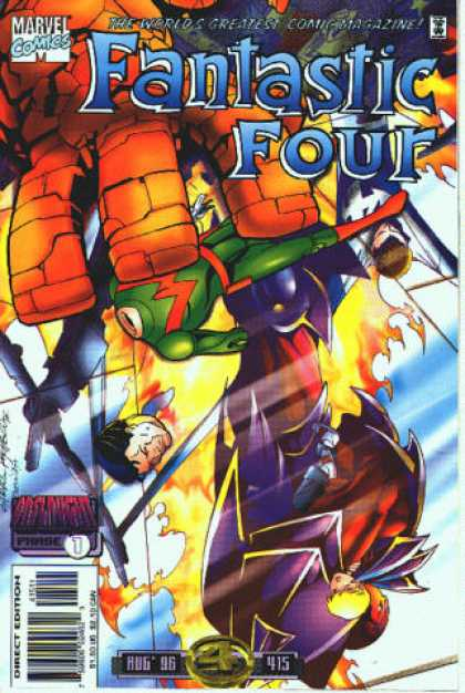 Fantastic Four 415 - Marvel Comics - The Worlds Greatest Comic Magazine - Direct Edition - Aug 96 - Sword - Carlos Pacheco