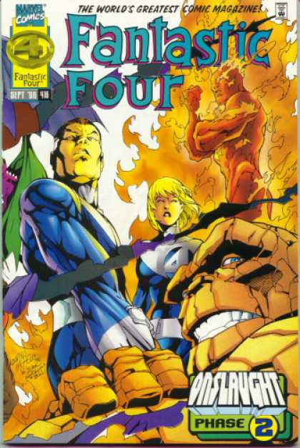 Fantastic Four 416 - Thing - Human Torch - Mr Fantastic - Invisible Woman - Marvel - Carlos Pacheco, Jacob Kurtzberg