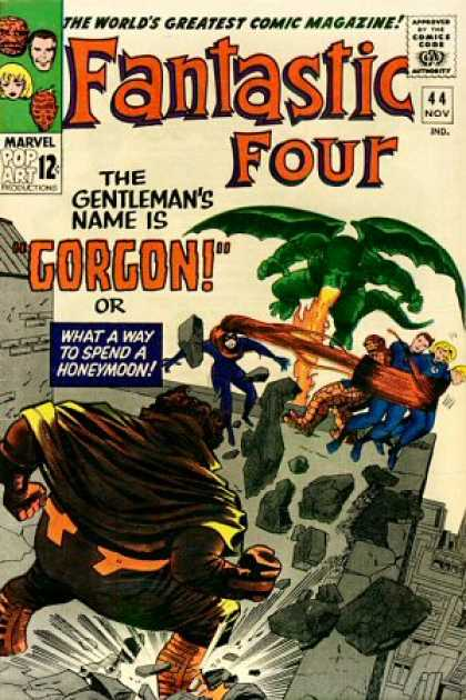 Fantastic Four 44 - Mr Fantastic - Medusa - Gorgon - Thing - The Worlds Greatest Comic Magazine - Jack Kirby