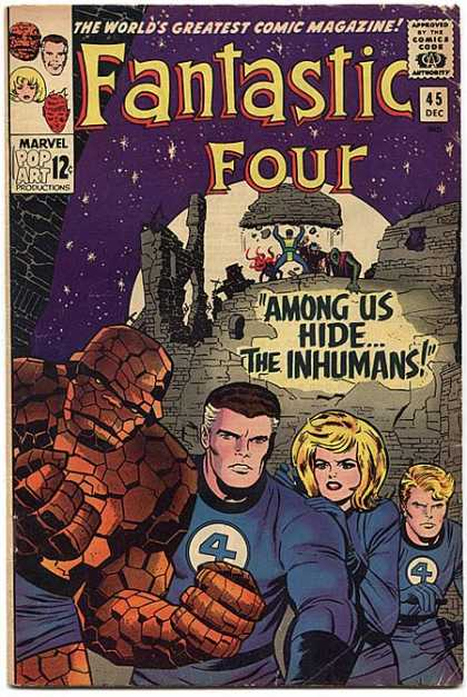 Fantastic Four 45 - Thing - Human Torch - Mr Fantastic - Jack Kirby