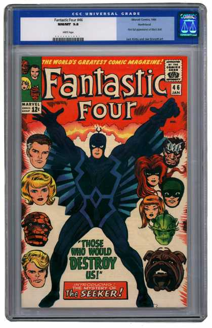 Fantastic Four 46 - Marvel - 12 Cents - 46 Jan - The Seeker - Those Who Would Destroy Us - Jack Kirby