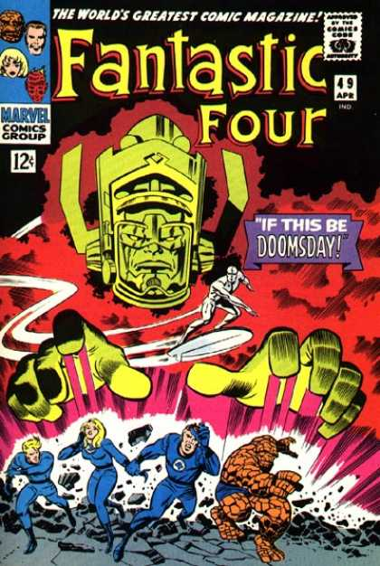 Fantastic Four 49 - Thing - Galactus - Silver Surfer - Human Torch - Jack Kirby