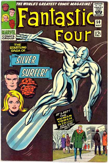 Fantastic Four 50 - Silver Surfer - Marvel Comics - Mr Fantastic - Classic Comics - Adventure - Jack Kirby