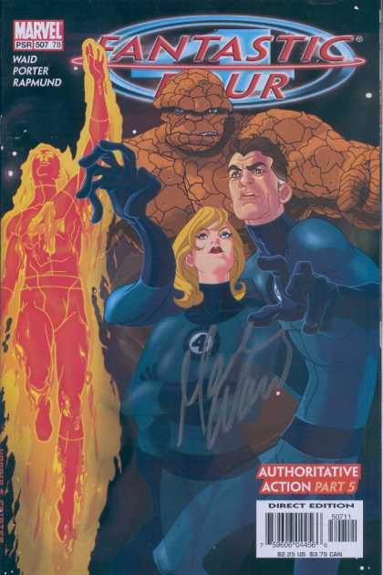 Fantastic Four 507 - Thing - Human Torch - Invisible Girl - Autographed - Space - Tom Feister, Tony Harris