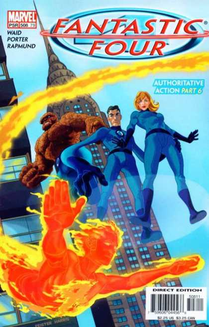 Fantastic Four 508 - Authoritative Action - Mr Fantastic - The Thing - Human Torch - Susan Storm - Tom Feister, Tony Harris