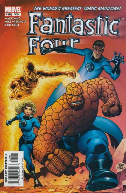 Fantastic Four 509 - Karl Kesel - Mark Waid - Mike Wieringo - Human Torch - The Thing - Mike Wieringo, Richard Isanove