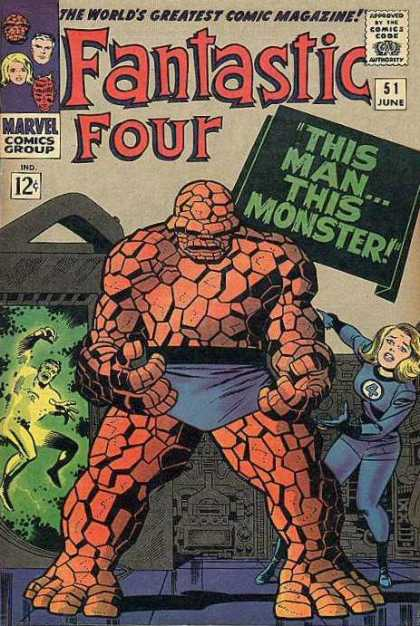 Fantastic Four 51 - Thing - Fantastic Four - This Manthis Mounster - Marvel Comics Group - Jack Kirby