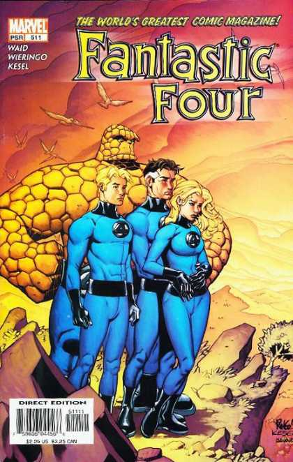 Fantastic Four 511 - Thing - Human Torch - Mr Fantastic - Mister Fantastic - Mike Wieringo, Richard Isanove
