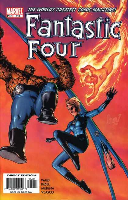 Fantastic Four 514 - Thing - Flames - Monster - Boots - Woman - Gene Ha, Morry Hollowell