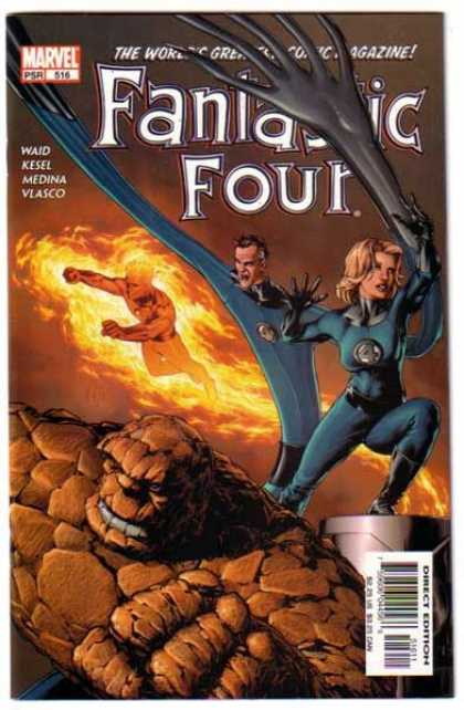 Fantastic Four 516 - Mr Fantastic - Invisible Woman - Human Torch - 4 Authors - The Thing - Gene Ha, Morry Hollowell