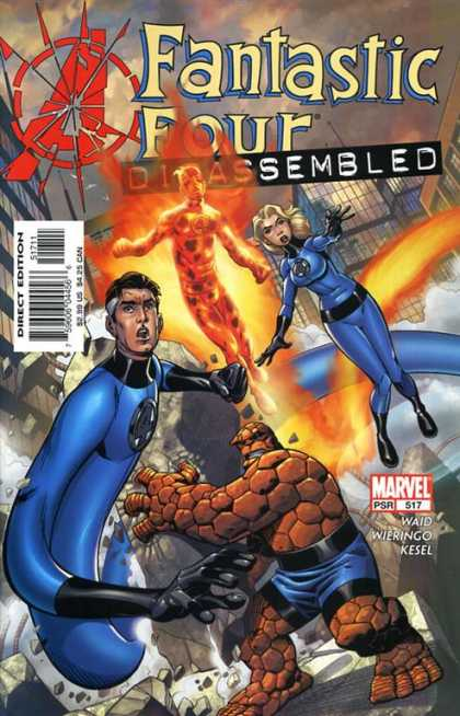 Fantastic Four 517 - Human Torch - Waid - Wieringo - Kesel - Thing - Mike Wieringo