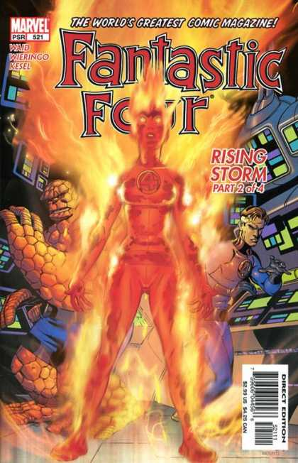 Fantastic Four 521 - Human Torch - Thing - Mike Wieringo
