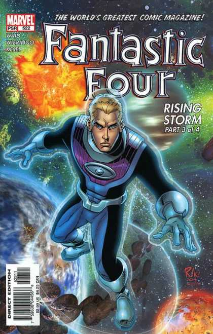 Fantastic Four 522 - Kesel - Wieringo - Rising Storm Part 3 Of 4 - Waid - Spaceman - Mike Wieringo