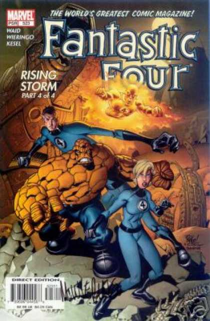 Fantastic Four 523 - Rising Storm - The Worlds Greatest Comic Magazine - Direct Edition - Waid - Kesel - Mike Wieringo