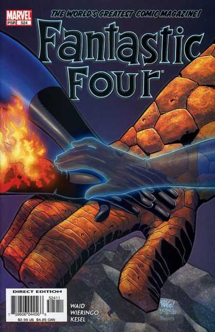 Fantastic Four 524 - Hands - Thing - Human Torch - Mr Fantastic - Mike Wieringo
