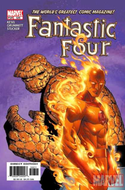 Fantastic Four 526 - Thing - Human Torch - Marvel - Marvel Comics - The Torch - Jim Cheung