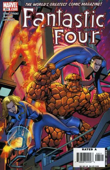 Fantastic Four 535 - Sue Storm - Reed Richards Saves The Day - Johnny Storm - Rock - Invisible Woman - Mike McKone