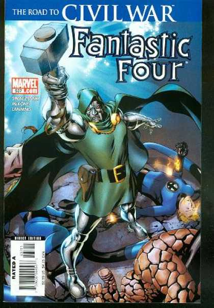 Fantastic Four 537 - Thing - Human Torch - Mr Fantastic - Dr Doom - Doctor Doom - Mike McKone