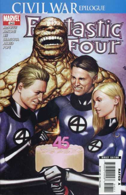 Fantastic Four 543 - Civil War - Marvel - Invisible Woman - Human-torch - The Thing - Adi Granov, Mike McKone