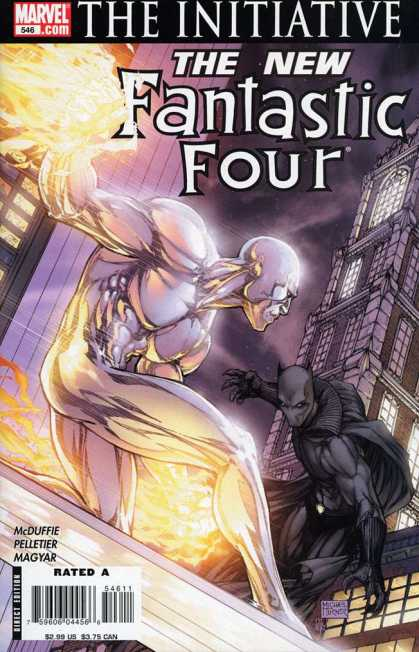 Fantastic Four 546 - Marvel - Initiative - Superhero - Fire - Buildings - Michael Turner