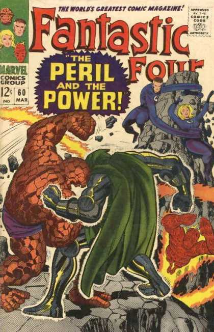 Fantastic Four 60 - Doctor Doom - Thing - Human Torch - Jack Kirby