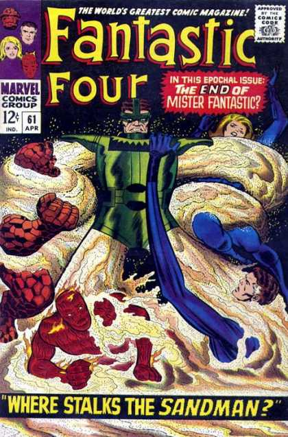 Fantastic Four 61 - Marvel Comics - Superheroes - Super Powers - Mister Fantastic - The Thing - Jack Kirby