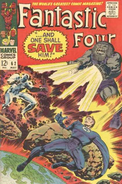 Fantastic Four 62 - Earth - Light - Meteor - Explosions - Teeth - Jack Kirby