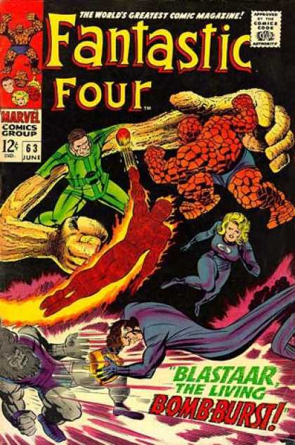 Fantastic Four 63 - Fantastic Four - Reed Richards - Sue Storm - Johnny Storm - Rock - Jack Kirby