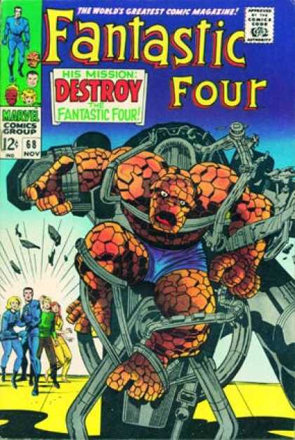 Fantastic Four 68 - Thing - Jack Kirby