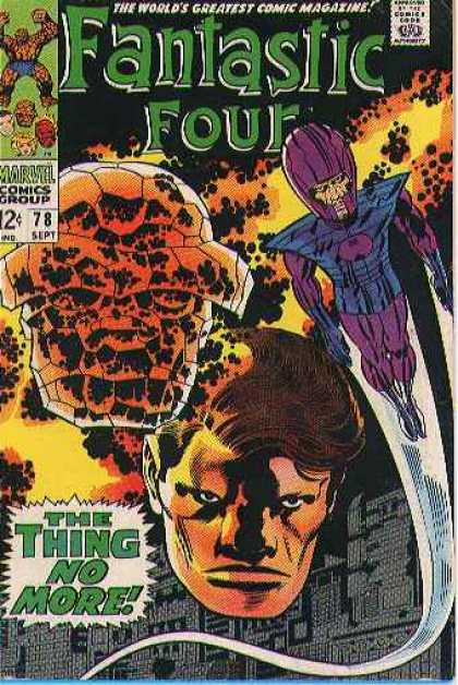 Fantastic Four 78 - Thing - Marvel Comics Group - Head - The Thing No More - Building - Jack Kirby