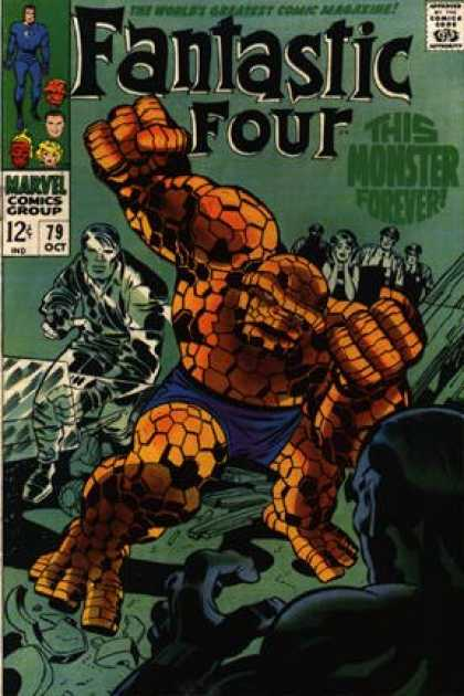 Fantastic Four 79 - Thing - Monster - 12 Cents - Fantastic Four - The Thing - Jack Kirby