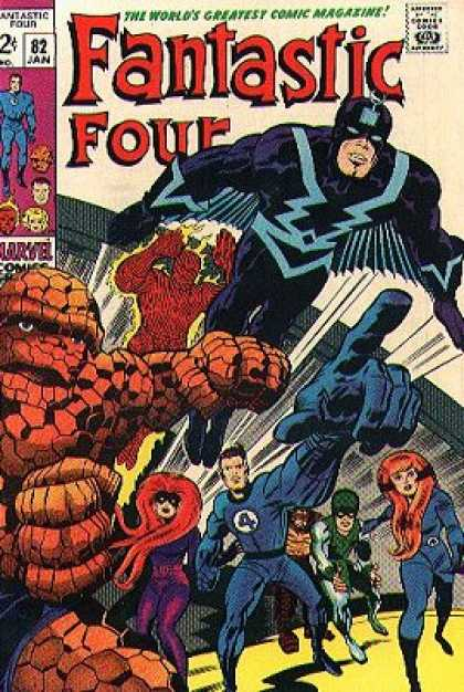 Fantastic Four 82 - Thing - Human Torch - Mr Fantastic - Superheros - Monster - Jack Kirby