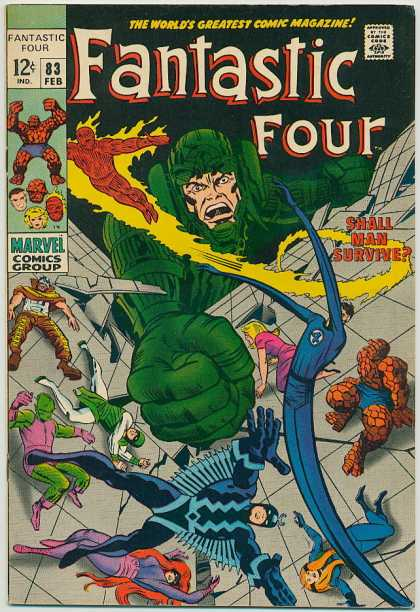 Fantastic Four 83 - Human Torch - Thing - Black Bolt - Mr Fantastic - Crystal - Jack Kirby