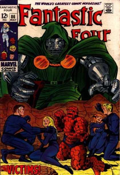 Fantastic Four 86 - Dr Doom - Dare Green Devil - Lonely Lady - Blue Guys - Formula Gameing - Jack Kirby