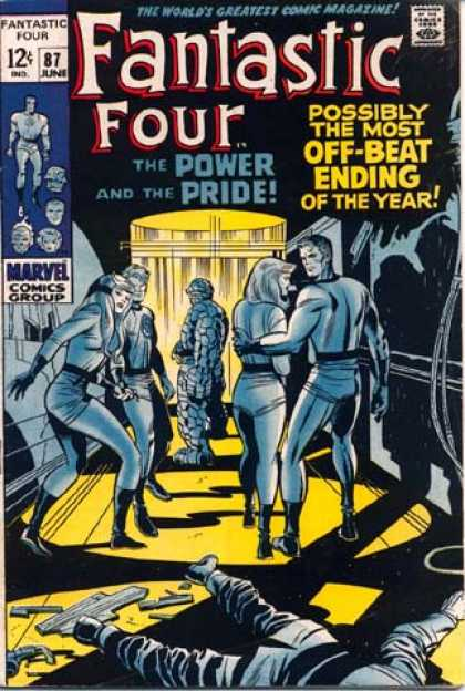Fantastic Four 87 - The Power And The Pride - Light - Body - Woman - Shadows - Jack Kirby