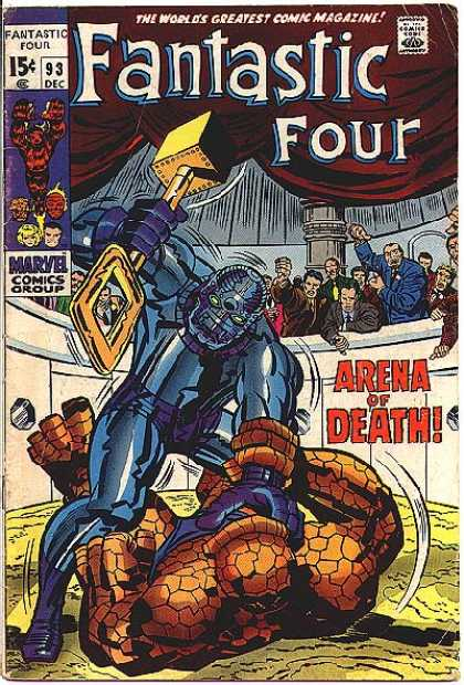 Fantastic Four 93 - Approved By The Comics Code - Hammer - Marvel Comics Group - Thing - Arena Of Death - Jack Kirby
