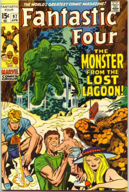 Fantastic Four 97 - Thing - Lagoon - Beach - Jack Kirby