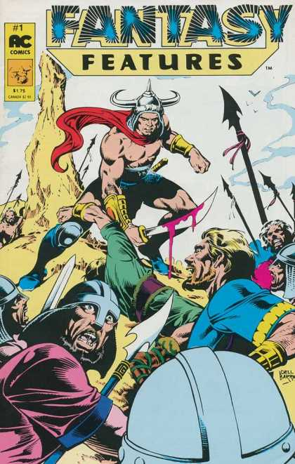 Fantasy Features 1 - Ac Comics - Horns - Helmet - Sword - Blood