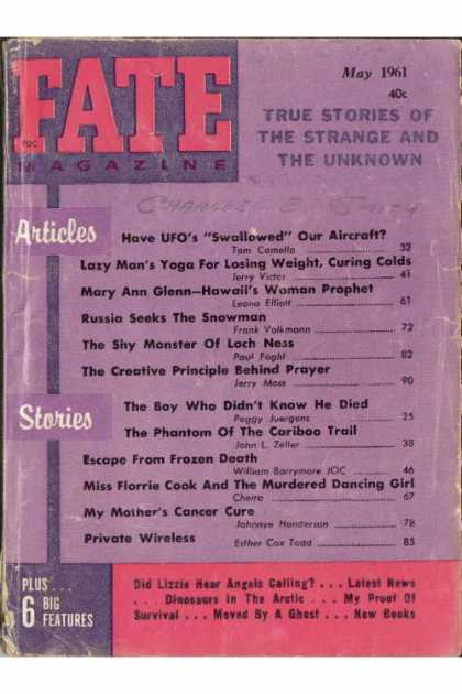 Fate - May 1961