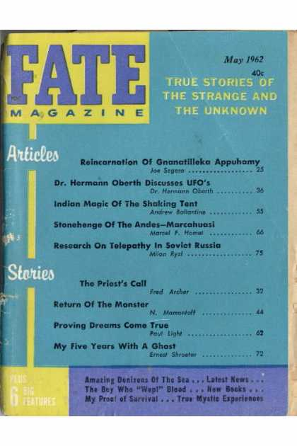 Fate - May 1962