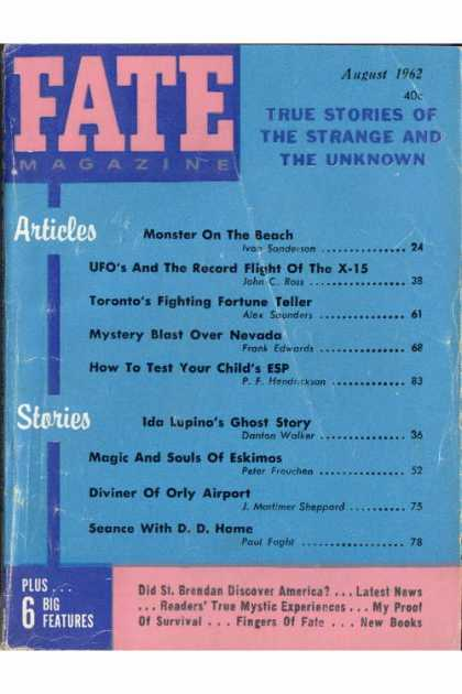 Fate - August 1962