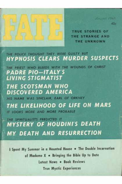 Fate - August 1963