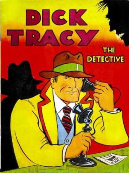 Feature Book 4 - Dick Tracy - Detective - Investigator - Telephone - Trenchcoat