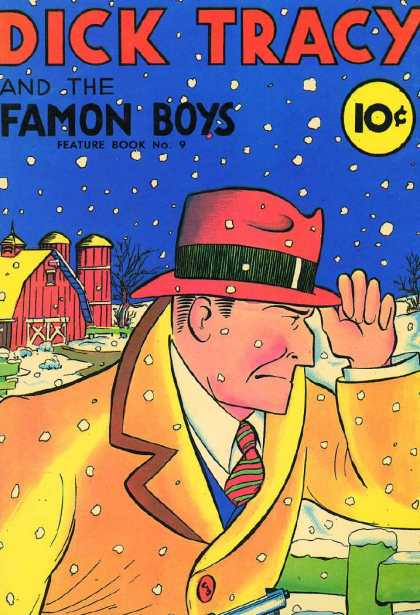Feature Book 9 - Dick Tracy - Red Hat - Barn - Overcoat - Suit