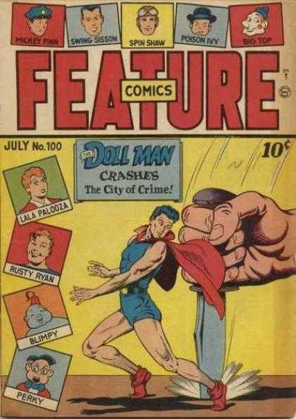 Feature Comics 100 - Doll Man - Knife - Feature Comics - July No 100 - City Of Crime
