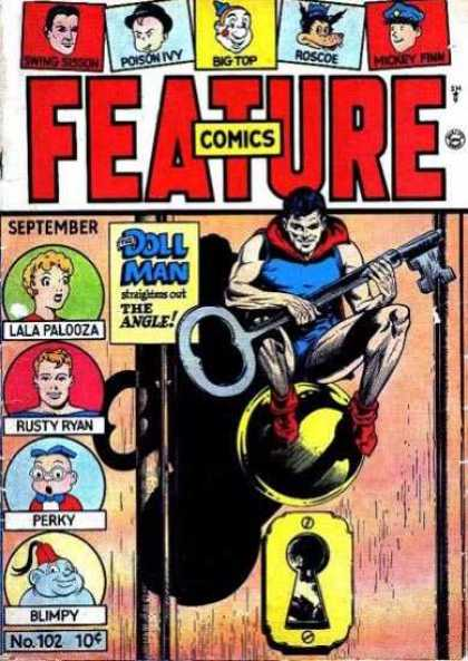 Feature Comics 102 - Doll - Key - Locked Door - Lala Palooza - Unlock